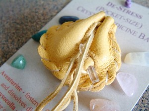 De-Stress pocket-size Crystal Medicine Bag